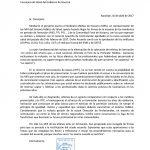 Carta al Consejero